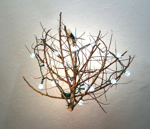 Make a DIY light from tumbleweed