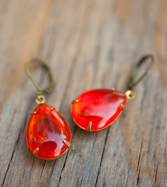 Tangerine tango earrings