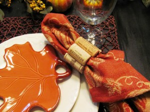 How to make wine cork napkin rings