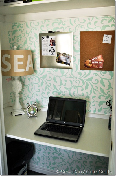 A closet turned into an office