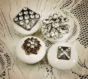 Make knobs from old jewelry