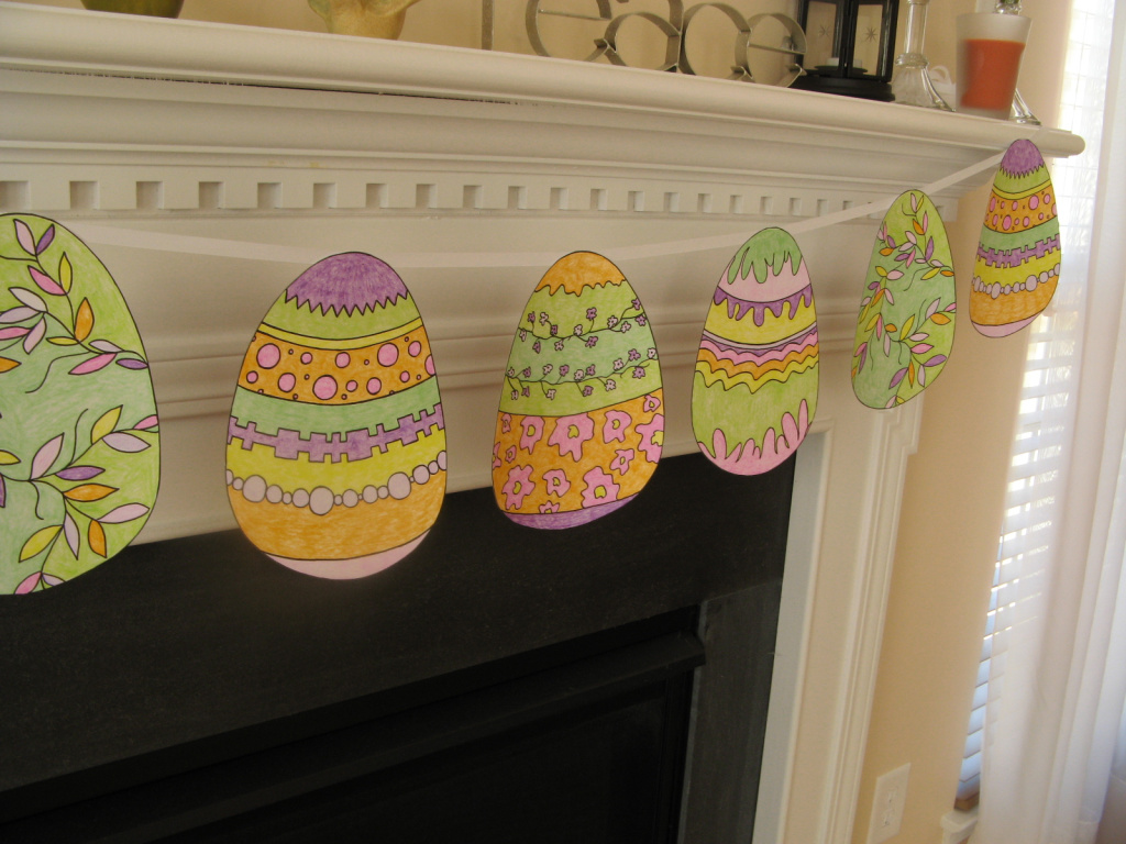 decorating ideas for easter - bunting